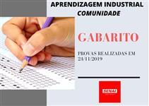 GABARITOS DAS PROVAS REALIZADAS NO DIA 24/11/19